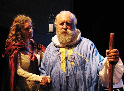 "Kris Lundberg and Carey Harrison as Jane and John Dee in ""Magus,"" which will be staged this month at the Center for Performing Arts in Rhinebeck."