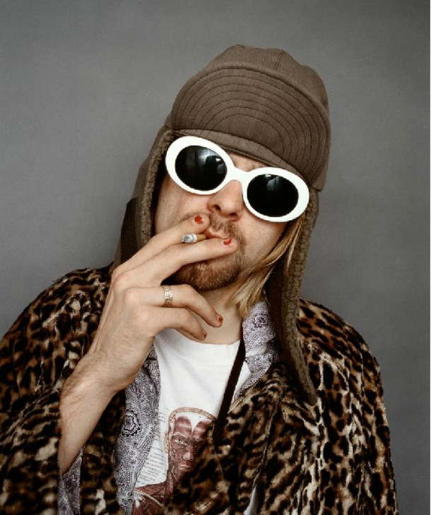 Kurt Cobain; Smoking A. Part of The Morrison Hotel Gallery and Dream Downtown's exhibit KURT COBAIN by Jesse Frohman, displayed April 4-May 6. - © JESSE FROHMAN, 1993