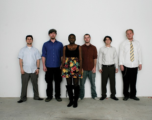 (l-r) Sam Tritto, Andy Vogt, Neenee Rushie, Chas Montrose, Rob Kissner, Jon Klenk.