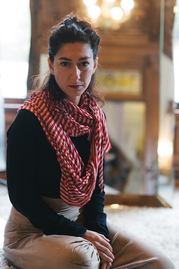 Laleh Khorramian makes handpainted clothing at LALOON. - THOMAS SMITH