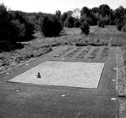 Landscape design including a Zen-inspired 24-foot square gravel garden at Sun Farm in Claverack. - FIONN REILLY