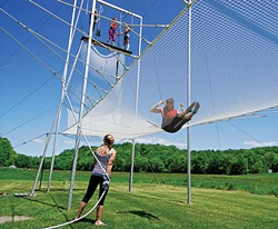 Learning to fly at the Trapeze Club in New Paltz