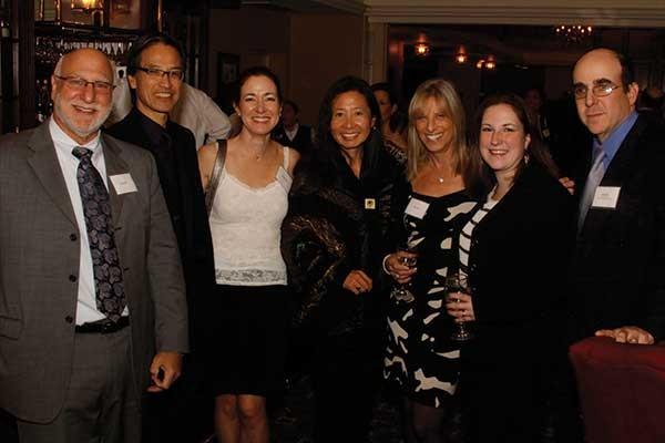 (Left to right) Mark Soss, Elizabeth Simon, Gar Wang, Carol Soss, Lisa Gubernick, and John F. Simon Jr. at the Orange County Arts Council County Art Awards on November 9 at the Powelton Club in Newburgh. Image courtesy of E&J Photography.