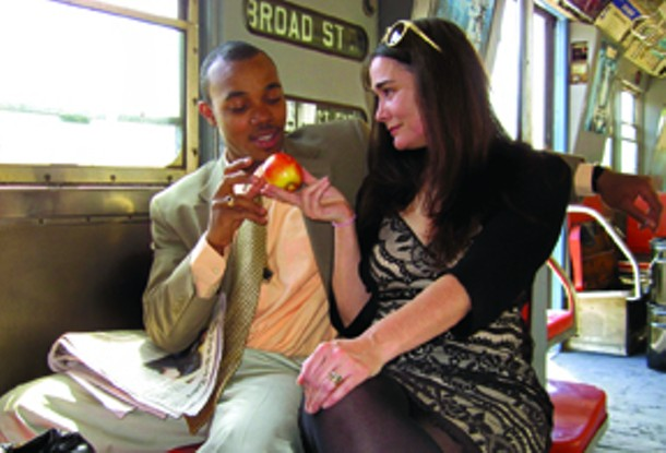 "Lerone Simon and Laura Love Kroll star in ""The Dutchman."""