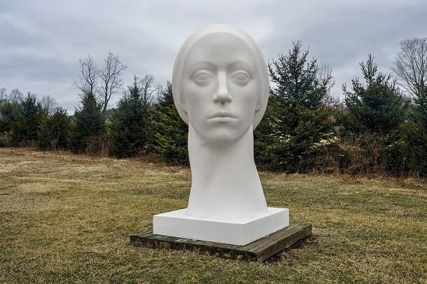 Leucantha a sculpture by Philip Grausman at the OMI International Arts Center in Ghent. - DAVID MORRIS CUNNINGHAM