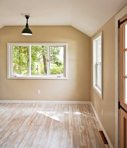 Light colors allow the outdoors to pop into the room.