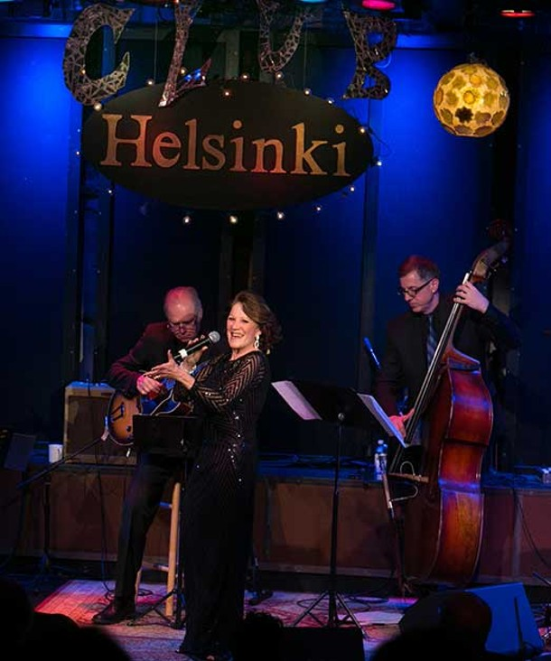Linda Lavin performing at Club Helsinki on February 10.