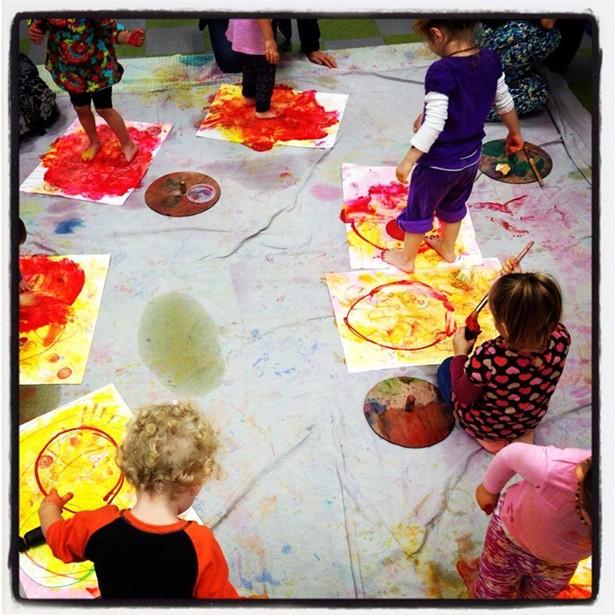 Little Painters at Fiber Flame, Saugerties - SHEA LORD-FARMER