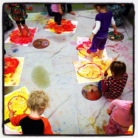 Little Painters at Fiber Flame, Saugerties - SHEA LORD-FARMER