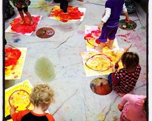 Little Painters at Fiber Flame, Saugerties