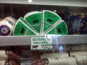 Locally made cheeses for sale