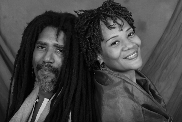 Lolo and Mimerose P. Beaubrun of Boukman Eksperyans. The band will headline the One Voice for Haiti benefit concert at Backstage Studio Productions in Kingston on April 23.