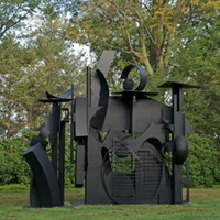 Storm King Art Center Louise Nevelson, City on the High Mountain, 1983, steel painted black. Jerry L. Thompson