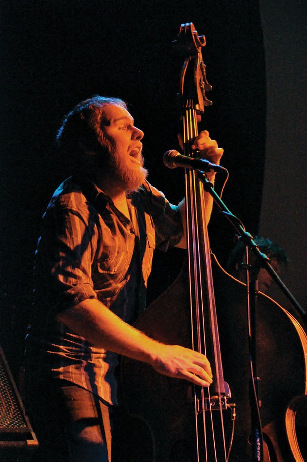 Luke Ydstie of Blind Pilot performs at the Bearsville Theater on February 14. - MICHAEL LAMUNIERE