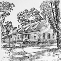 "John F. Gould Drawings ""Madam Brett Homestead,"" a drawing by John F. Gould."
