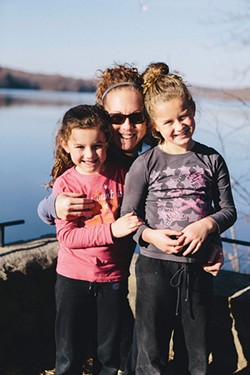 Madison, Kathy, and Bryanna Foti at Lake Chadwick. - THOMAS SMITH