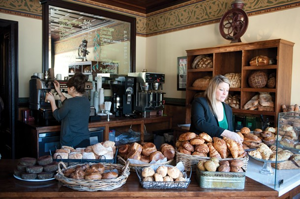 Manager Jennifer Houle with freshly baked pastries at Café le Perche in Hudson. - JENNIFER MAY