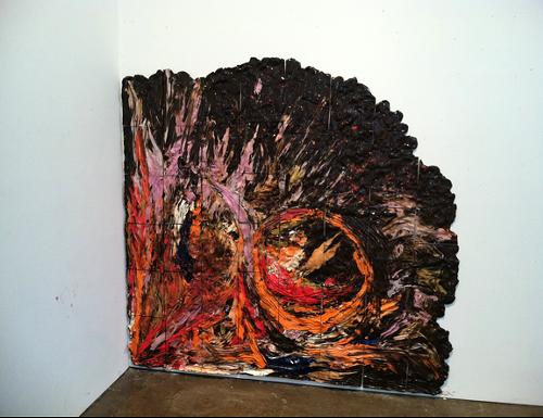 Mapping Studio Floor, HVCCA (Lee Krasner Palette on my Floor), 2012