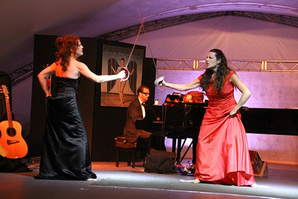 "Maria Todaro and Michelle Jennings in ""Divas Unleashed,"" accompanied by Bryan Wade, at the 2012 Phoenicia Festival of the Voice. - PARROTS FOR PEACE"