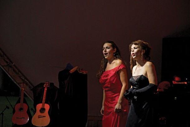 """Maria Todaro and Michelle Jennings opened the Phoenicia International Festival of the Voice on August 2 with their """"Divas Unleashed"""" performance. Photo by Bernard Handzel."""