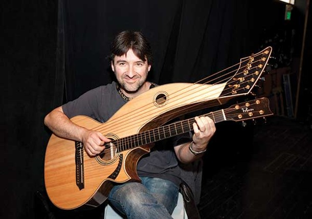 Michael Pellirin's harp-guitar played by Claude LaFlamme. - JAY ROSENBLATT
