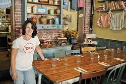 Michelle Silver at Miss Lucy's - Kitchen in Saugerties. - DAVID CUNNINGHAM