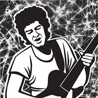 Margie Greve's Digital Portriats Mike Bloomfield Margie Greve