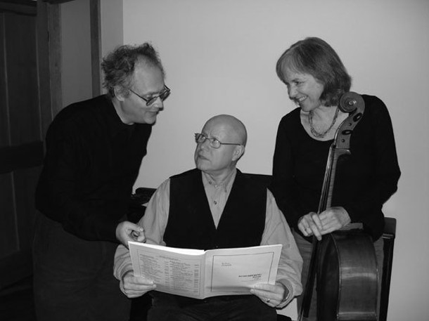 Mikhail Horowitz, Justin Kolb, and Abby Newton, aka the Post-Neo Trio, will perform at the Belleayre Music Festival on July 25. - BARBARA MELLON KOLB