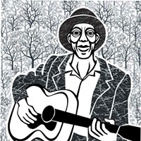 Margie Greve's Digital Portriats Mississippi John Hurt Margie Greve