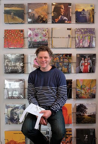Nate Krenkel in the Team Love Ravenhouse Gallery in New Paltz.