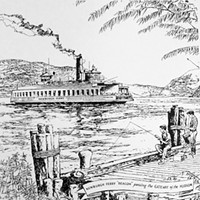 "John F. Gould Drawings ""Newburgh Ferry,"" a drawing by John F. Gould."