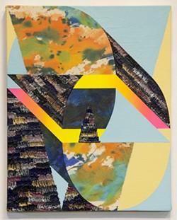 "JEFF BAILEY GALLERY, HUDSON, NY - Nichole van Beek, ""Wee"", 2015, acrylic on canvas, 15 x 12 inches"