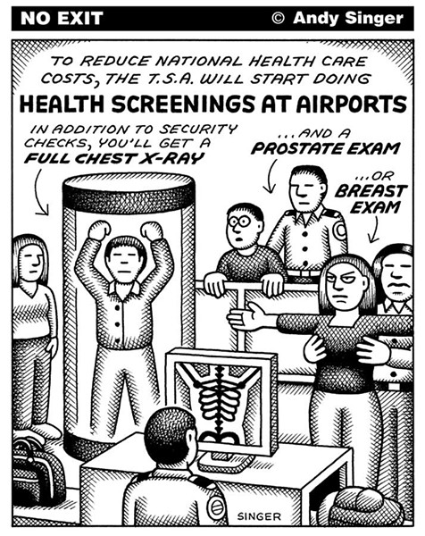 No Exit cartoon by Andy Singer.