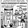 No Exit Cartoon: Health Screenings at Airport