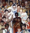 """Norman Rockwell, """"Golden Rule,"""" Oil on Canvas, 44 1/2"""" x 39 1/2"""",  Cover illustration for the Saturday Evening Post, April 1, 1961. The Norman Rockwell Museum in Stockbridge houses the world's largest collection of Rockwell's work, including 574 original paintings and drawings."""