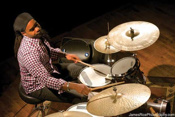 Obed Calvaire of the Jean-Michel Pilc Trio at the Falcon on January 4. - JAMESRICEPHOTOGRAPHY.COM