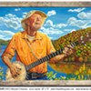 Pete Seeger Portrait at Towne Crier