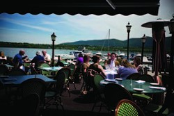 On the deck at Cena 2000 on the waterfront on Front Street in Newburgh. - JULIE PLATNER