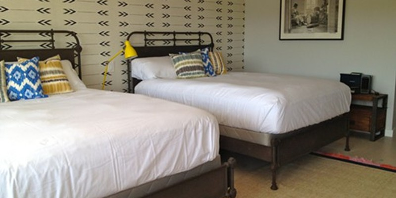 One of the 11 rooms at Hotel Dylan