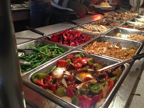 One of the zillion tables at the Mid-Hudson Buffet