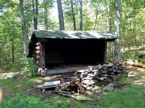 One of two lean-tos located near Mount Tremper's summit.
