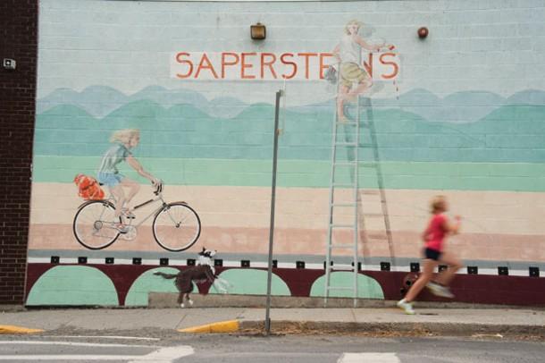 Outside Saperstein's in Millerton.