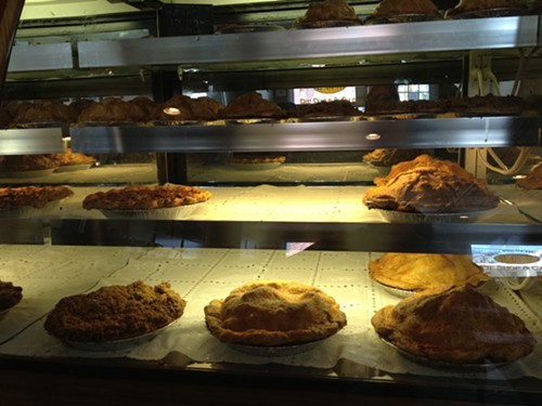 Over-sized pies at Me-Oh My Pie shop