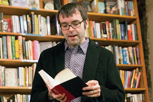 Owen King reads from his novel Double Feature at Inquiring Minds in New Paltz on April 5.