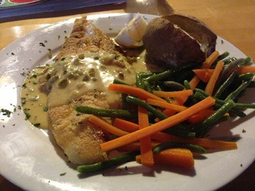 Pan-seared catfish at J Roccos