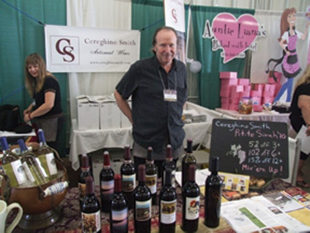 Paula Cereghio and Fred Smith of Cereghino Smith Winery in Rosendale at the Hudson Valley Food and Wine Fest at the Dutchess County Fairgrounds on September 8.