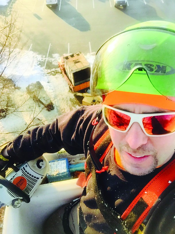 Phil DiLorenzo took this selfie in his personal protective equipment.