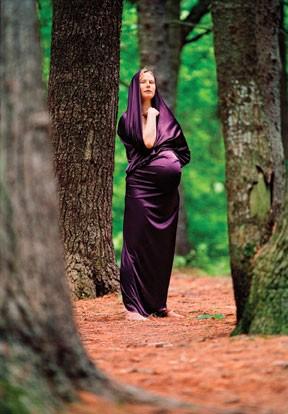 Portraits from Goddess on Earth: Portraits of the Divine Feminine by Lisa Levart, Lush Press, 2011. Katie Scoville Wilson as Mary Magdalene - LISA LEVART