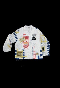 Prototype Shirt Jacket, spunbonded olefin material, 2005. Photo by Mau. - NANCY DONSKOJ