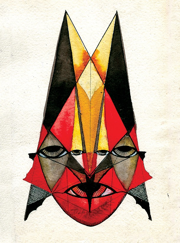 "Randy Aragon, XIII Gibran, 4"" X 6""."
